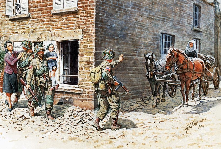 Франция 1944. Набор сборных фигур в масштабе 1/35. MASTER BOX 3578