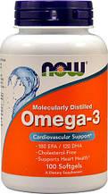 Now Foods, Омега-3, 100 мягких желатиновых капсул