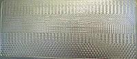 Наклейка контурная серебряная Волны 0043 10*23см