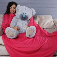 Одеяло-плед с рукавами Снагги (Snuggie) розовый.