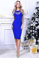 Изысканное платье Milena с очень женствиним фасоном и красивими вставками из стрейч сетки (длина 103 см) (4 цвета) (134)281