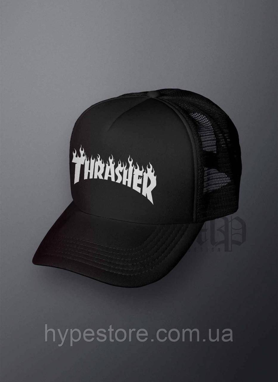 Кепка, бейсболка Thrasher (черный), Реплика