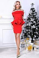 Прелестный костюм Inga с шикарной баской на кофте и изисканим поясом с бантом в комплекте, привосходно подойдет как для нового года, вечеринки, Нового