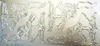 Наклейка контурная серебряная Цветы 132 10*23см, фото 1