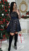 Женское стильное платье из кружева (4 цвета), фото 1