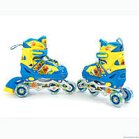 Детские ролики для  девочек и  мальчиков(передние колесо светиться)