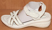 Босоножки летние женские белые кожаные модель Р8206-4