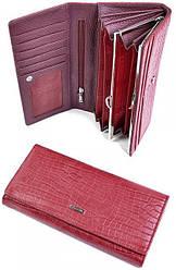 Женский кожаный кошелек 505905 Red
