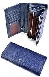 Женский кожаный кошелек 505905 Blue