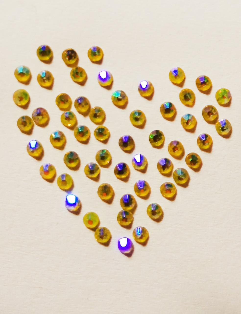 Стразы: желто-фиолетовый хамелеон