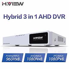 Відеореєстратор H. VIEW 8-канальний 720P 8CH AHD NVR. Рекордер для відеоспостереження, фото 3