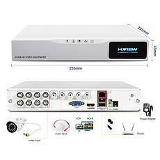 Відеореєстратор H. VIEW 8-канальний 720P 8CH AHD NVR. Рекордер для відеоспостереження, фото 2
