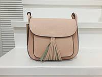 Модная сумка через/на плечо, цвет пудра