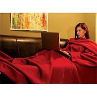 Одеяло-плед с рукавами Снагги (Snuggie) бордовый, плотность 180