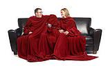 Одеяло-плед с рукавами Снагги (Snuggie) бордовый, плотность 180, фото 6