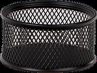 Подставка для скрепок Buromax BM.6221-01, черная, металическая, круглая маленькая