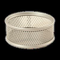 Подставка для скрепок Buromax BM.6221-24, серебряная, металическая, круглая маленькая