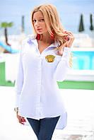Славная блуза Amandina с красивим длини рукавом и модним рисунком спереди (длина спереди 68 см, сзади 82 см) (134)8053