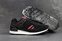Мужские кроссовки Saucony черные замшевые (Реплика ААА+)