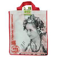 Эко-сумка Украинский орнамент дівчинка 415*345*120 ТМ303