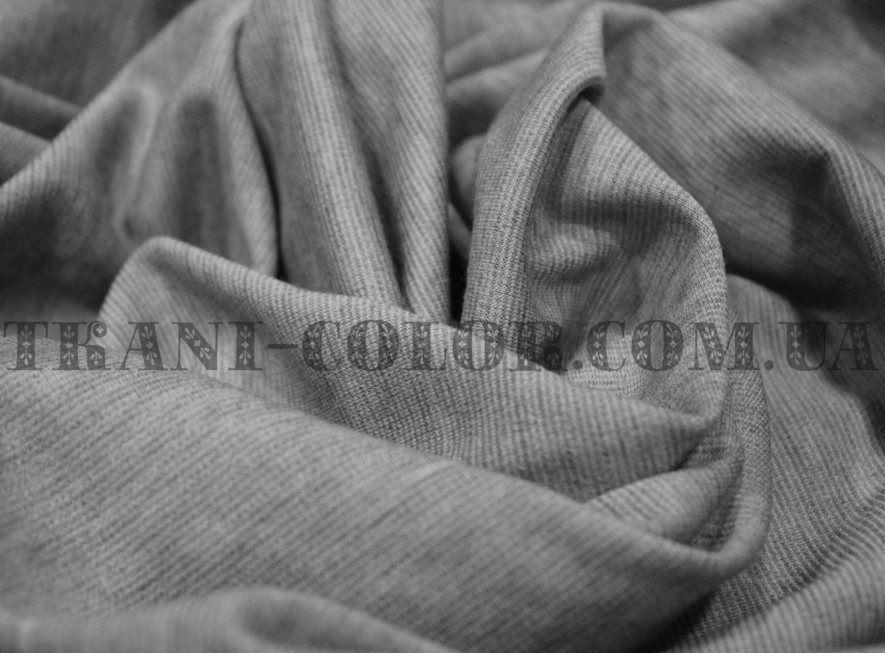 Французский трикотаж светло-серый меланж