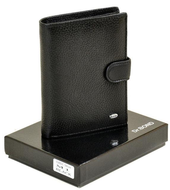 Мужское кожаное портмоне Classik DR. BOND M1 black