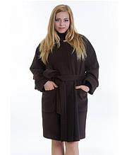 Пальто зимнее женское № 20 (р.46-48), шоколад