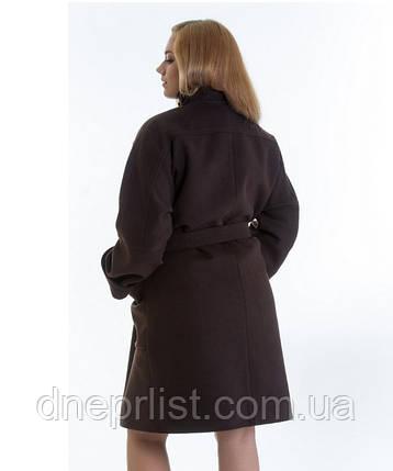 Пальто зимнее женское № 20 (р.46-48), шоколад, фото 2