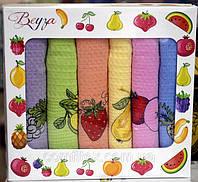 Набор кухонных вафельных полотенец Beyza Fruits 30x50 (6шт.)