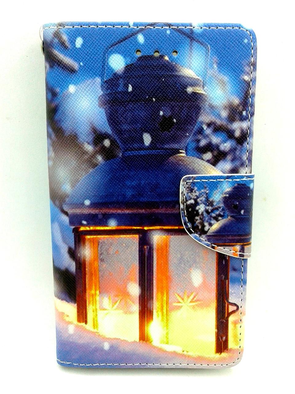 """Чехол-книжка 4you Art Print 4.0""""-4.4"""" Winter 5 (фонарь) универсальная ТОП Продаж! Новинка!"""