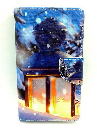 """Чехол-книжка 4you Art Print 4.0""""-4.4"""" Winter 5 (фонарь) универсальная ТОП Продаж! Новинка!, фото 2"""