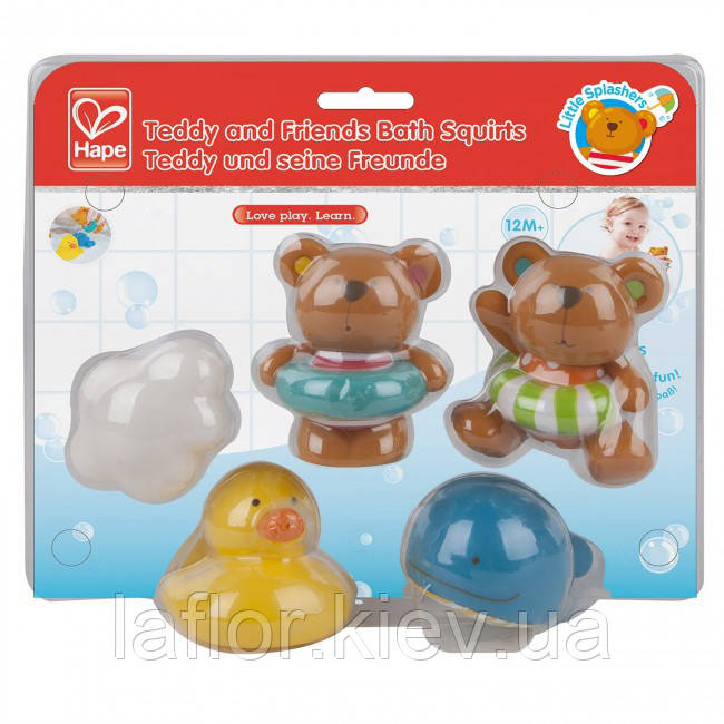 Игрушка для ванной комнаты - Teddy and Friends Squirts