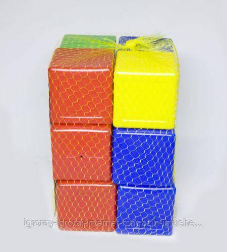 Кубики  цветные,  12  шт Л-002-5
