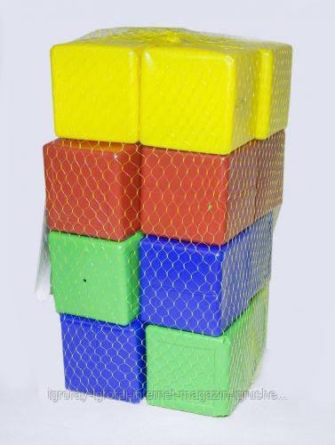 Кубики  цветные,  16  шт Л-002-6