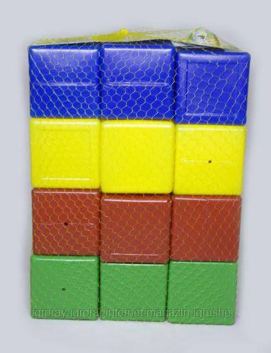 Кубики  цветные,  24  шт Л-002-8