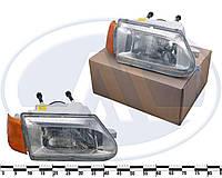 Фара ВАЗ 2113-15 правая с желтым указателем поворота оригинал алюминиевый 676 512 054-01 (Рязань)