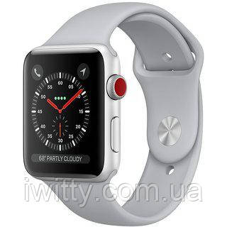 Watch Series 3 GPS + Cellular 42mm Silver Aluminum withFog Sport Band (MQK12), фото 2