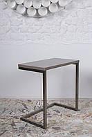 Приставной столик York (Йорк) мокко на П-образной ноге, столешница МДФ мокко