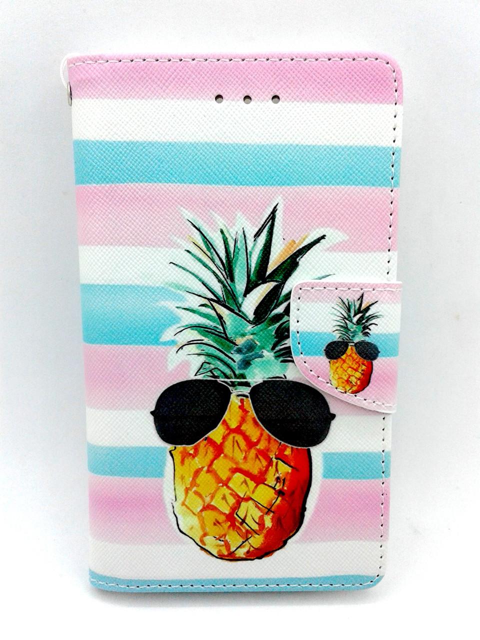"Чехол-книжка 4you Art Print 3.5""-4.0"" Pineapple универсальная - Акционная Цена!"