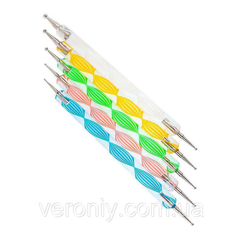 Набор дотсов, 5 шт (спиральная ручка)