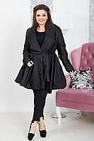 Женское пальто-халат большого размера