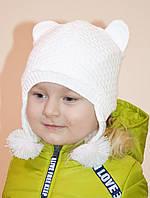 """Демисезонная шапка на девочку """"Ушки"""""""
