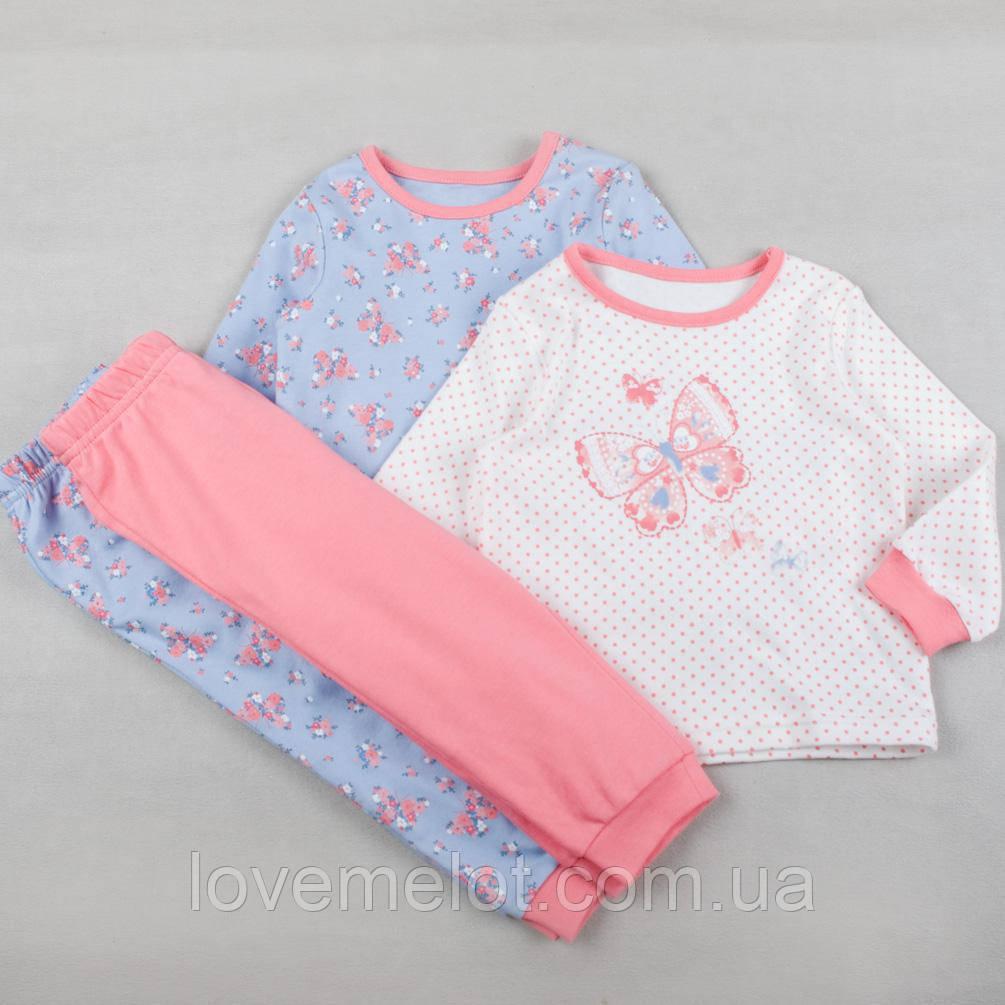 """Пижама для девочки детская """"Майя"""", в наборе 2 шт, хлопковая пижама с манжетом на рост 80 и 86см"""