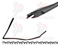 Уплотнитель опускного стекла передней двери ВАЗ 2110-2112 верхний левый. 2110-6103299-03Р