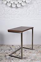 Приставной столик York (Йорк) орех на П-образной ноге, столешница МДФ орех