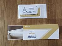 Кетгут 1 с обратно-режущей иглой (3/8, 40мм)