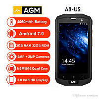 AGM a8 Защищенный смартфон с мощным аккумулятором 4050мАч 3/32GB  , фото 1