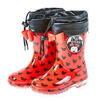 Детская обувь резиновые сапоги со съемным теплым носком Minnie Mouse /Минни Маус на девочку (р. 30-34) ТМ ARDITEX WD9874