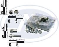 Болт 12х 45 колес хром конус секретки (2 ключа) (ш 1.5) (4 шт) WALLINE (блист). 375130Н2WALLINE