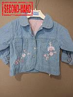 Куртка джинсовая на девочку 6-9мес. Весна, лето;